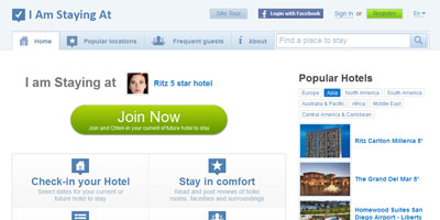 I Am Staying At – Hotel Guests' Social Network